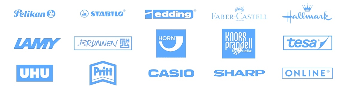 Marken-schreibwaren-blau